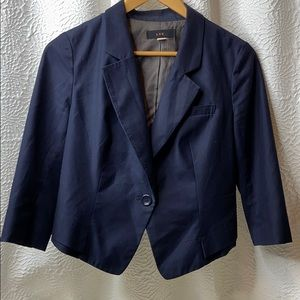 LUX Women's Blue Sits At The Waist Suit Jacket MED